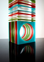 Border Crossing Art - fused glass
