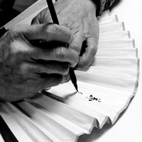 Calligraphy Master Fan
